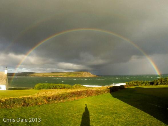 Rainbow over Camel Estuary